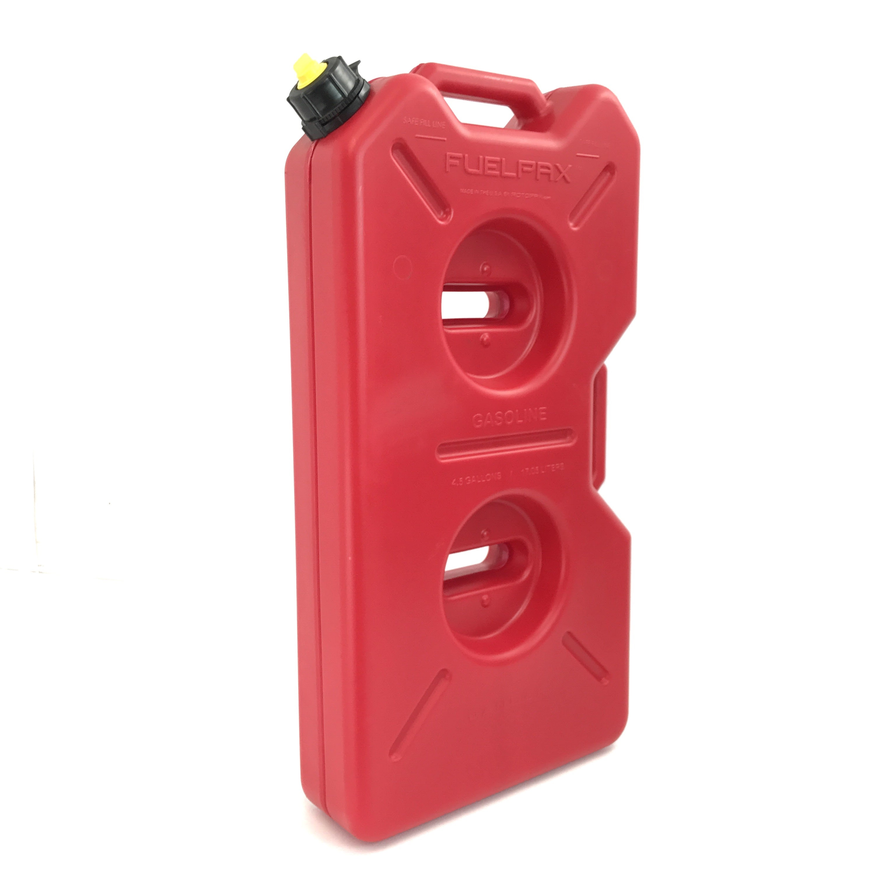 RotoPax are the only EPA and CARB compliant fuel containers available for sale in the United States! This is thanks to a patented three layer roto-molding process, along with specially formulated plastic barrier material to meet the government's new extremely low permability requirements.